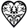 Filigree Heart Pattern JPEG File: Pattern Created by Honeycat Cookies