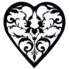 Filigree Heart Pattern PNG File: Pattern Created by Honeycat Cookies