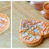 Mother-of-Pearl and Filigree Heart Locket Cookie, Painting Lustre Collage: Photo and Cookie by Honeycat Cookies
