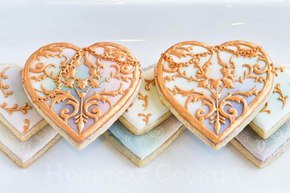 Filigree Heart Locket Cookies