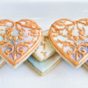 Mother-of-Pearl and Filigree Locket Cookies: Photo and Cookies by Honeycat Cookies