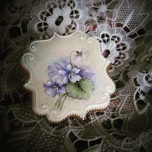 #4 - Handpainted Violets by Teri Pringle Wood