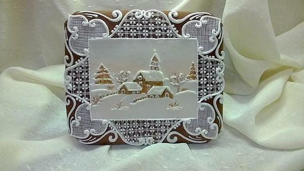 #6 - Snowy Village Gingerbread Card by maro