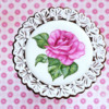 Handpainted Rose Cookie: Cookie and Image by Dolce Sentire