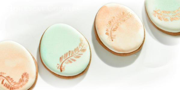 Egg and Feather Cookies