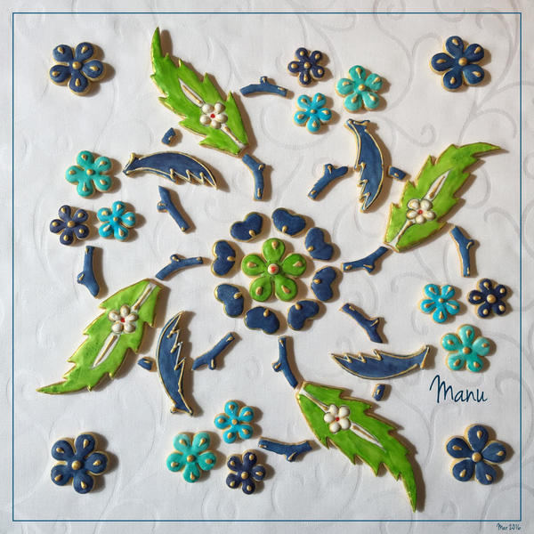 #8 - Floral Tile Design by Manu