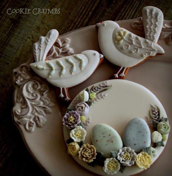 #4 - Spring Egg Wreath and Birds by mintlemonade (cookie crumbs)
