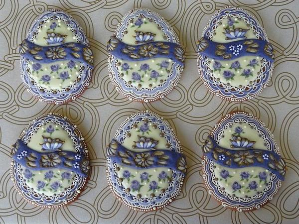 #6 - Lace Easter Eggs with Butterflies by swissophie