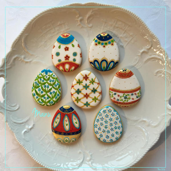 #7 - Easter Egg Cookies 2016 by Manu