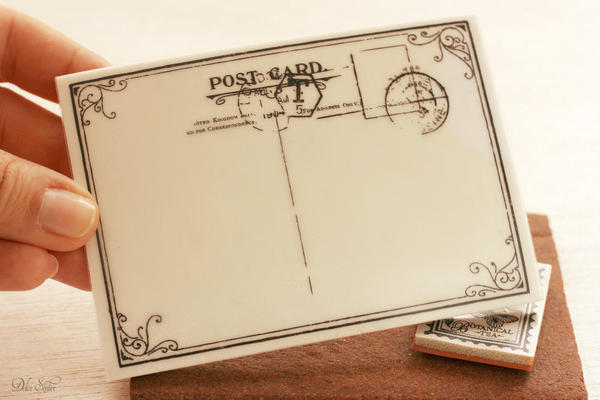 All you'll need for this flowered project [Postcard stamp):