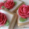 Royal Icing Roses: Cookies and photo by Emma's Sweets