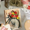 Bike with Flower Basket: Cookie and photo by Jackie Rodriguez