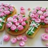 Pink Swirl Roses: Cookies and photo by Kat Rutledge-Ibicci
