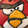 Red Angry Bird Cookie: By Cariteacher