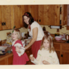 Mom and Daughters Decorating Cookies: Photo from Usher Family Archives