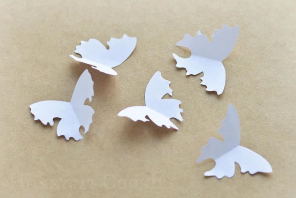 Paper butterfly templates