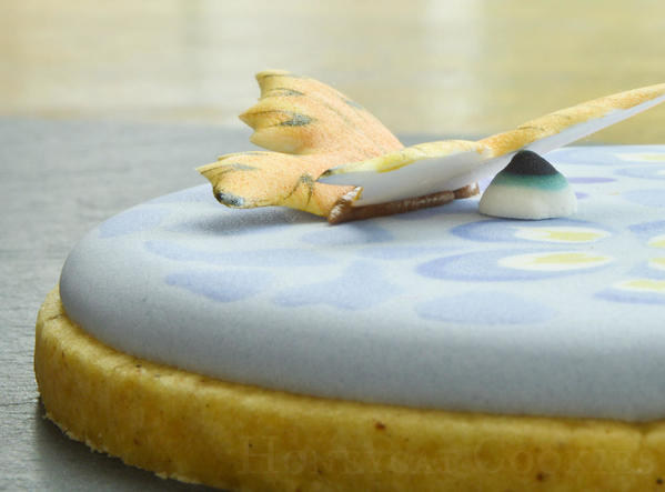 Butterfly wing in royal icing