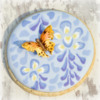 Butterfly Attached to Wisteria Cookie: Cookie and photo by Honeycat Cookies