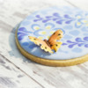 Butterfly and Wisteria Cookie Close-up: Cookie and photo by Honeycat Cookies