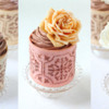 Rose Trio: Cookie Cupcake Liner and Photo by Julia M Usher