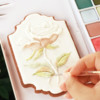 Handpainting Rose: Cookie and Photo by Dolce Sentire