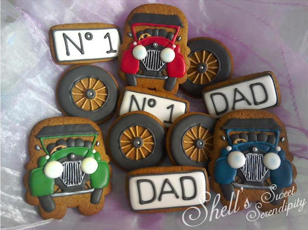#7 - Fathers' Day Vintage Motor Car Cookies by Shell's Sweet Serendipity