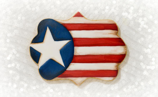 #10 - American Flag by Honeycat Cookies