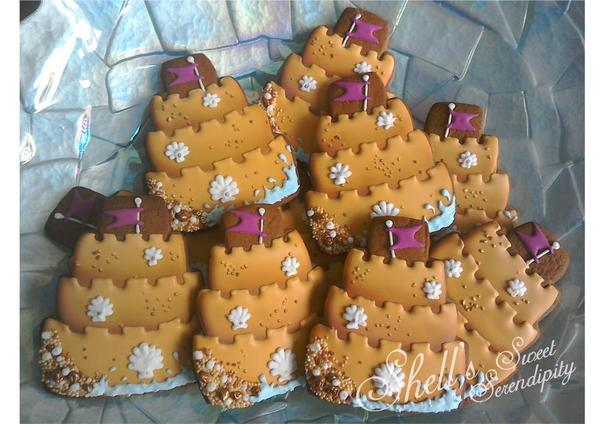 #2 - Sand Castle Cookies by Shell's Sweet Serendipity