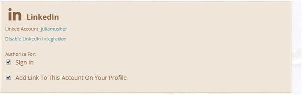 Enabled LinkedIn