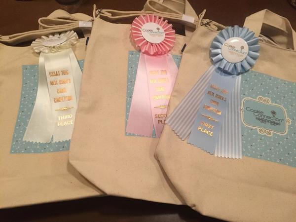 Cookie Connection Tote Bags and Ribbons for Winners