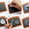 Steps 1 to 5: Drawing, Stamping, and Painting the Frame: Cookies and Photos by Dolce Sentire