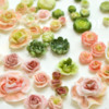 Lustre-Dusted Royal Icing Roses: Roses and Photo by Honeycat Cookies