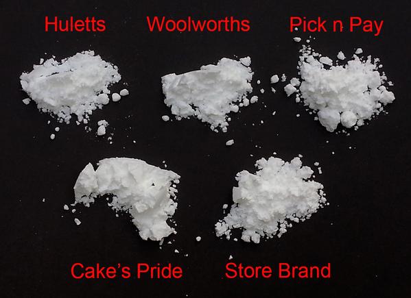 powdered sugar compared LABEL