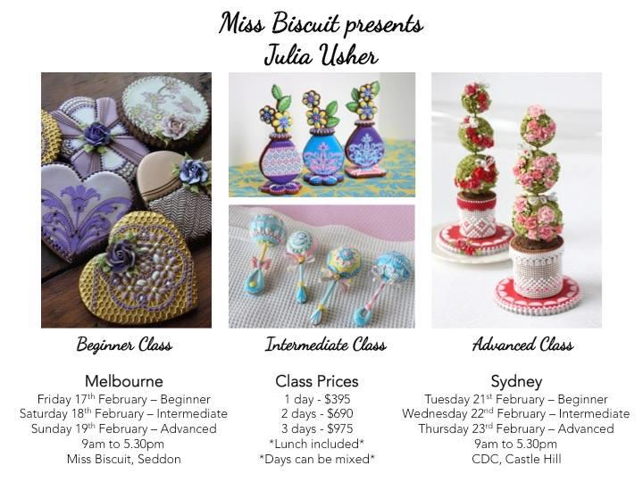 Beginner Cookie Decorating Class With Julia In Sydney Australia