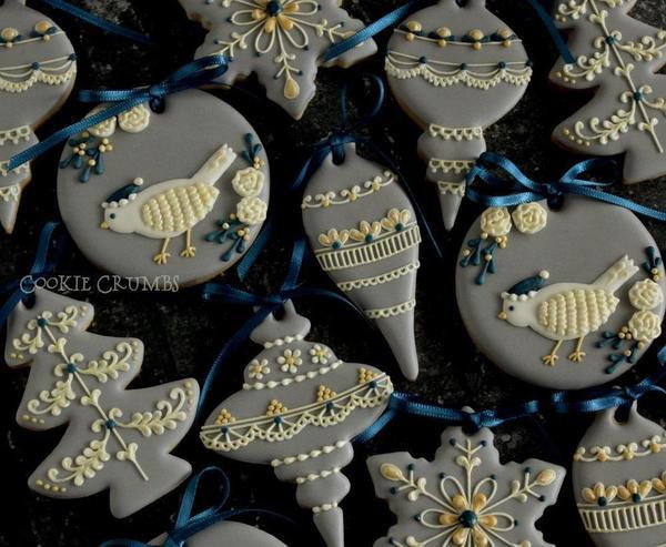 #7 - Christmas Ornament Cookies by mintlemonade (cookie crumbs)