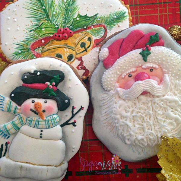 #8 - Christmas-Themed Cookies by Tina at Sugar Wishes