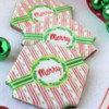 """Merry"" Prettier Plaques Cookies: Stencil Design and Cookies by Julia M Usher"