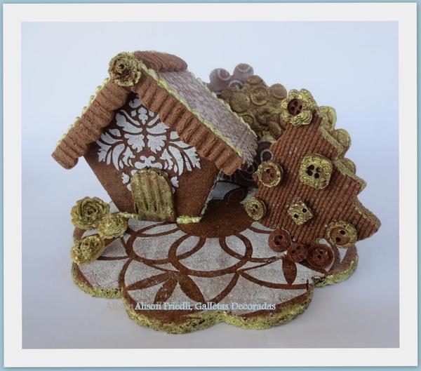 Golden Chocolate Christmas House