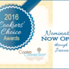 2016 Cookiers' Choice Awards Banner: Graphic Design by Pretty Sweet Designs and Julia M Usher