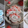 Sampling of Julia's Prettier Plaques Cookies: Stencil Designs, Cookies, and Photos by Julia M Usher