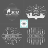 New Years Designs: Stencil Designs and Graphic Design by Julia M Usher in Partnership with Stencil Ease