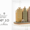 Top 10 Cookies Banner: Cookies and Photo by mintlemonade (cookie crumbs); Graphic Design by Julia M Usher