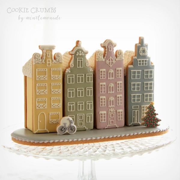 #8 - Gingerbread Canal Houses by mintlemonade (cookie crumbs)