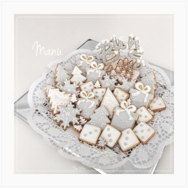 #10 - Winter-Themed Bunco Night Cookies
