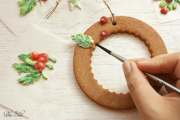 Sticking transfers on the cookie [I):