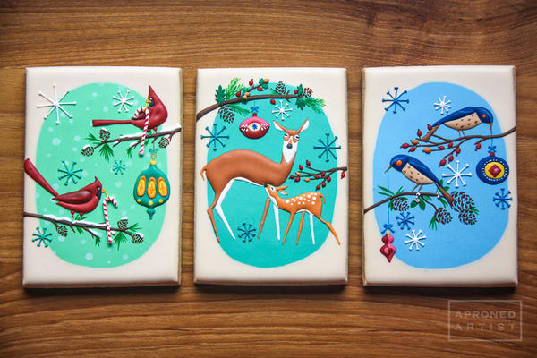 Mid-Century-Inspired Woodland Christmas by Aproned Artist