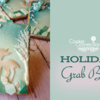 Holiday Grab Bag Banner: Cookies and Photo by hikainmel (vert); Graphic Design by Julia M Usher