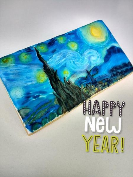 9 - Starry Night Representation by Cookies by joss