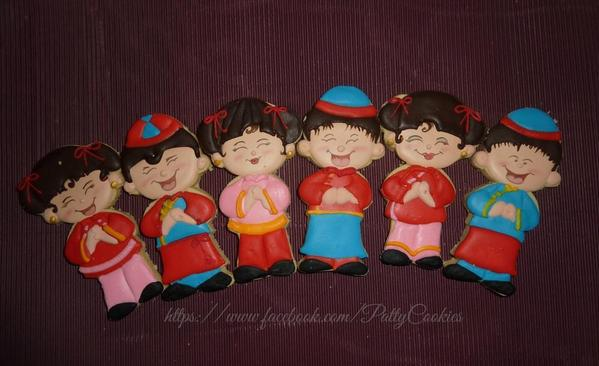 10 - Chinese Boys and Girls by Patty's Cookies