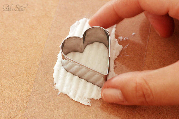 Royal icing heart III: